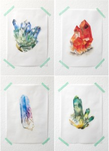 watercolor crystals by Andrea Fairservice