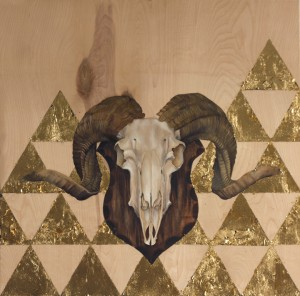 mixed media ram by Andrea Fairservice